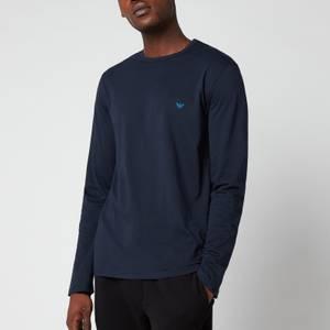 Emporio Armani Men's Pure Cotton Crew Neck T-Shirt - Blue