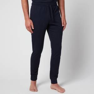 Emporio Armani Men's All Over Logo Terry Trousers - Blue