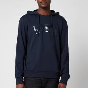 Emporio Armani Men's Iconic Terry Hooded Sweatshirt - Blue