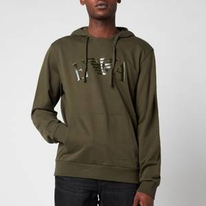 Emporio Armani Men's Iconic Terry Hooded Sweatshirt - Green