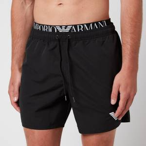 Emporio Armani Men's Logoband Swim Shorts - Black