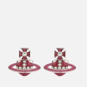 Vivienne Westwood Women's Regina Small Bas Relief Earrings - Rhodium Indian Pink