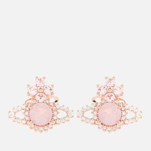 Vivienne Westwood Women's Valentina Orb Earrings - Pink Gold White Pink Opal