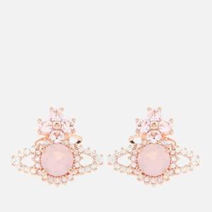 Vivienne Westwood Women's Valentina Orb Earrings - Pink Gold White Pink Opal