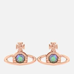 Vivienne Westwood Women's Nano Solitaire Earrings - Pink Gold Paradise Shine