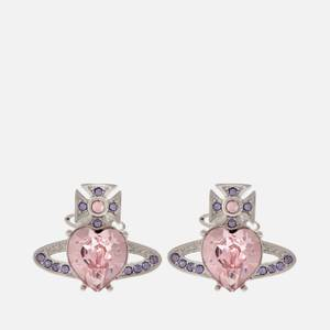 Vivienne Westwood Women's Ariella Earrings - Rhodium Light Amethyst Tanzanite