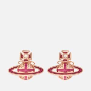 Vivienne Westwood Women's Suffolk Bas Relief Earrings - Pink Gold Crystal Fuchsia