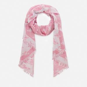 Vivienne Westwood Women's All Over Logo Scarf - Pink