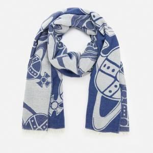 Vivienne Westwood Women's Large Multi Logo Scarf - Navy Blue