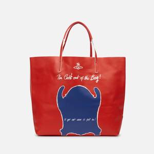 Vivienne Westwood Women's U Get Out What u Put in! Leather Shopper Bag - Red