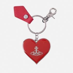 Vivienne Westwood Women's Jordan Mirror Heart Orb Keyring - Red