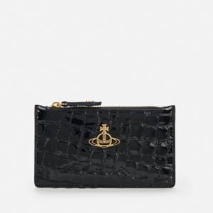Vivienne Westwood Women's Archive Orb Slim Long Card Holder - Black/Brass