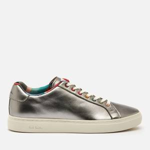Paul Smith Women's Lapin Leather Cupsole Trainers - Titanium