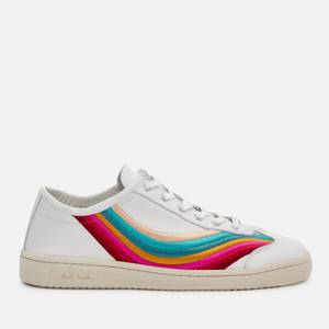 Paul Smith Women's Ziggy Leather Low Top Trainers - White Swirl