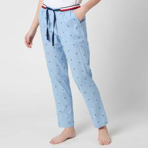 Tommy Hilfiger Women's Mini Flag Pants - Light Blue