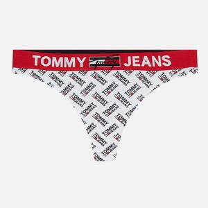 Tommy Jeans Women's Organic Recycled Print Thong - White