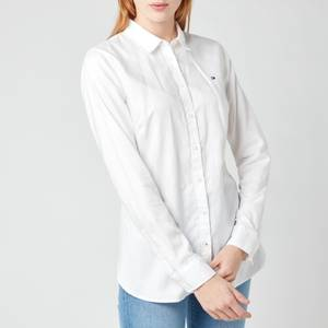 Tommy Hilfiger Women's Heritage Regular Fit Shirt - Classic White