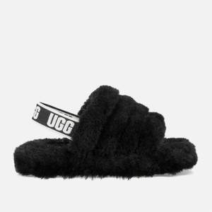 UGG Kids' Fluff Yeah Slide Slippers - Black