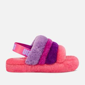 UGG Kids' Fluff Yeah Slide Slippers - Pink / Purple Rainbow