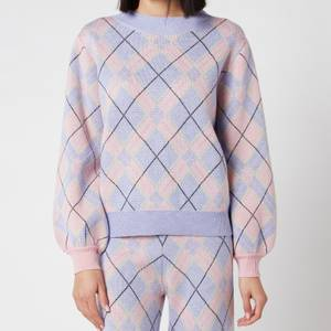 Olivia Rubin Women's Nettie Knitted Check Jumper - Check Mix