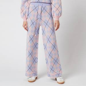 Olivia Rubin Women's Isobel Knitted Wide Leg Check Trousers - Check Mix