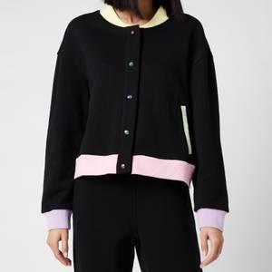 Olivia Rubin Women's Cassia Jersey Varsity Jacket - Black