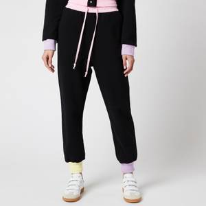 Olivia Rubin Women's Tilda Joggers with Colourblock Ribbing - Black
