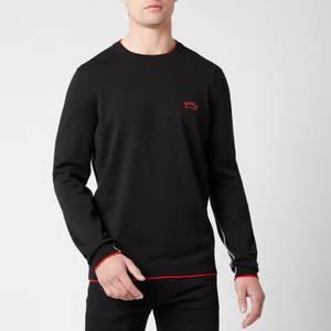 BOSS Athleisure Men's Riston Contrast Piping Crew Neck Sweatshirt - Black