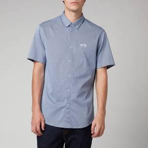 BOSS Athleisure Men's Biadia R Short Sleeve Shirt - Bright Blue