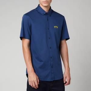 BOSS Athleisure Men's Biadia R Short Sleeve Shirt - Navy
