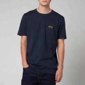 BOSS Athleisure Men's Curved T-Shirt - Medium Blue