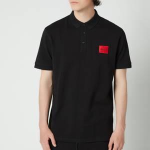 HUGO Men's Slim Fit Pique Polo Shirt - Black