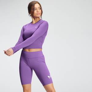 MP Women's Essentials Training Dry Tech Long Sleeve Crop Top - Deep Lilac