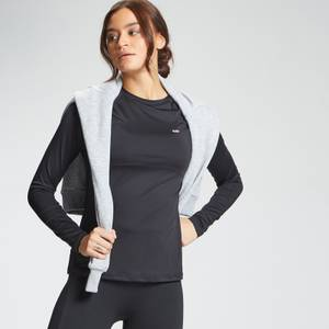 MP Women's Essentials Training Slim Fit Long Sleeve Top - Black