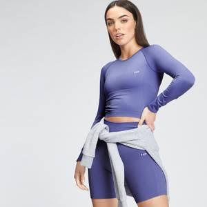 MP Women's Shape Seamless Ultra Long Sleeve Crop Top - Bluebell