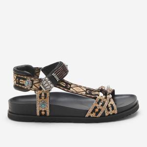 Ash Women's Ugo Ethnic Ribbon Sandals - Black