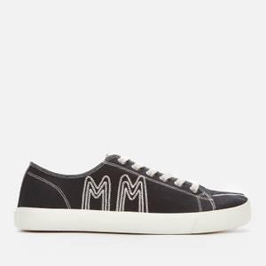 Maison Margiela Men's Canvas/Embroidery Low Top Trainers - Black/Ecru