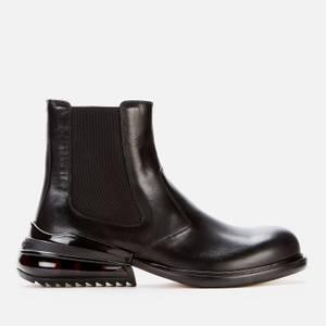 Maison Margiela Men's Leather Chelsea Boots - Black/Shiny Black