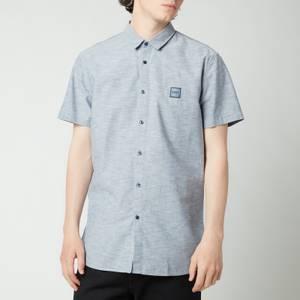 BOSS Casual Men's Magneton Short Sleeve Shirt - Dark Blue
