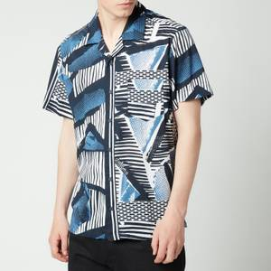 BOSS Casual Men's Rhythm Printed Shirt - Dark Blue