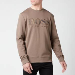BOSS Casual Men's Welogo Sweatshirt - Beige/Khaki