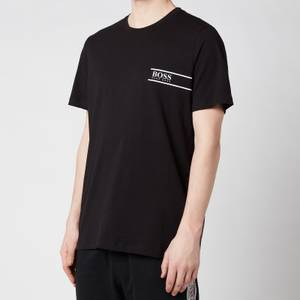 BOSS Bodywear Men's Rn 24 Logo Crewneck T-Shirt - Black