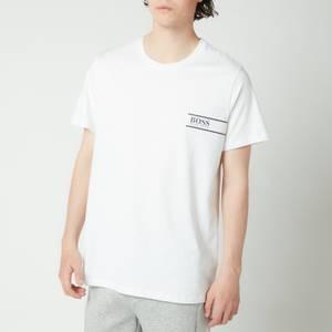 BOSS Bodywear Men's Rn 24 Logo Crewneck T-Shirt - White