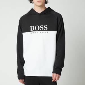 BOSS Bodywear Men's Authentic Jacquard Hoodie - Black