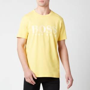 BOSS Beachwear Men's Relaxed Fit Upf 50+ T-Shirt - Yellow