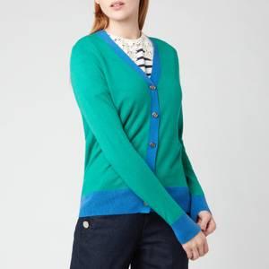 Kate Spade New York Women's Colourblock V-Neck Cardigan - Beryl Green