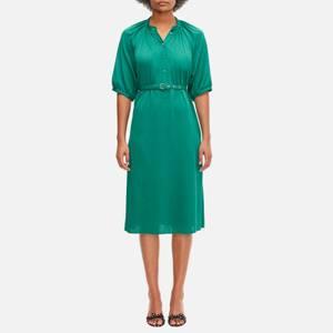 Kate Spade New York Women's Fluid Jacquard Midi Dress - Beryl Green