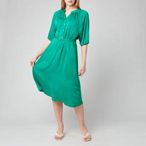 Kate Spade New York Women's Fluid Jacquard Midi Dress - Beryl Green