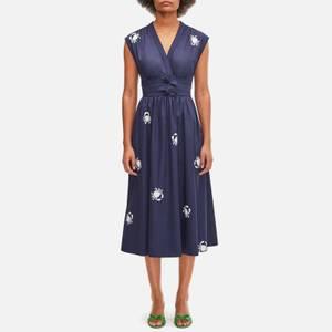 Kate Spade New York Women's Snappy Poplin Bow Dress - Squid Ink
