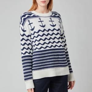 Kate Spade New York Women's Anchor Sweater - French Cream